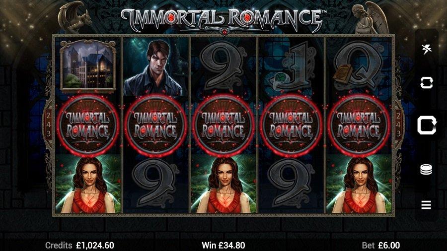 Immortal Romance Slot Gameplay
