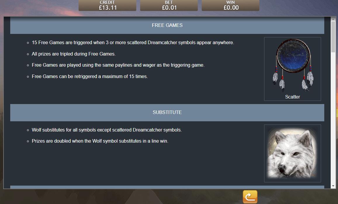 Shaman's Dream Slot Rules