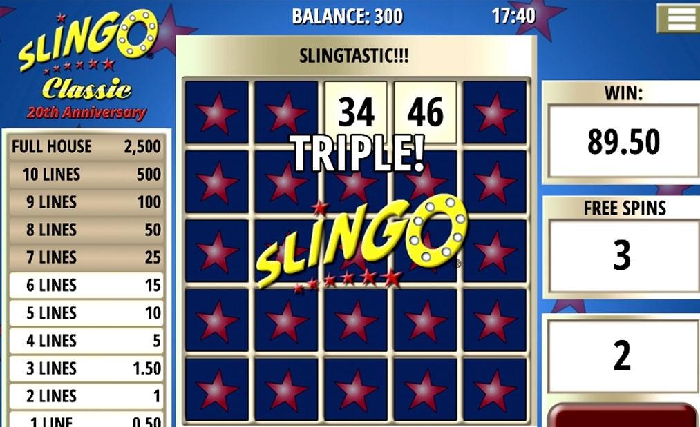 Slingo Slot Gameplay